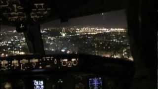 Great Lisbon Night Approach - Cockpit 757-200