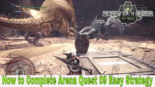 Monster Hunter: World - Arena Quest 09 - Black Diablos and Diablos Easy Strategy
