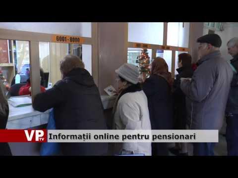 Informații online pentru pensionari