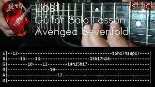 Lost Guitar Solo Lesson - Avenged Sevenfold (with tabs)