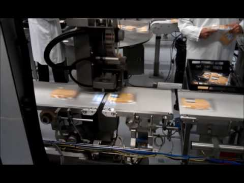 Autolabel blow box on cheese packaging