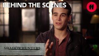 Shadowhunters | Katherine McNamara and Alberto Rosende Explain #Climon | Freeform