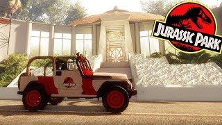 EXPLORA JURASSIC PARK! JURASSIC DREAM JUEGO DE DINOSAURIOS FANMADE JURASSIC WORLD