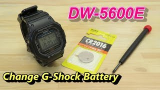 How to Replace CASIO G-Shock Battery DW-5600E