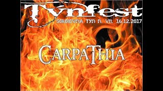 Video Carpathia at Týnfest, Sokolovna  Týn nad Vltavou, 16 12 2017