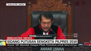 Sah! MK Tolak Gugatan Pilpres Tim Prabowo-Sandi