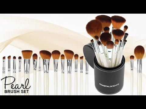 Bộ cọ trang điểm Coastal Scent 16 cây Pearl Makeup Brush Set