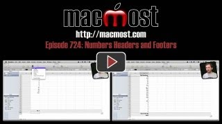 Numbers Headers and Footers (MacMost Now 724)