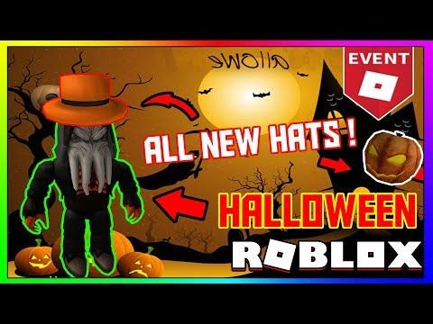 new roblox halloween event all the hats gears you can get roblox halloween event 2018