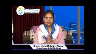 Our Behaviour In The Lord | Sis. Nidhi Robbins Simon | Prayer Time | Shubhsandeshtv