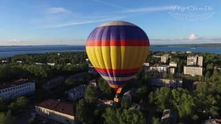Полет на воздушном шаре /  Аэросъемка