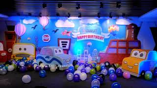 Disney Cars Theme Decoration In Hyderabad For Kids Birthday Parties