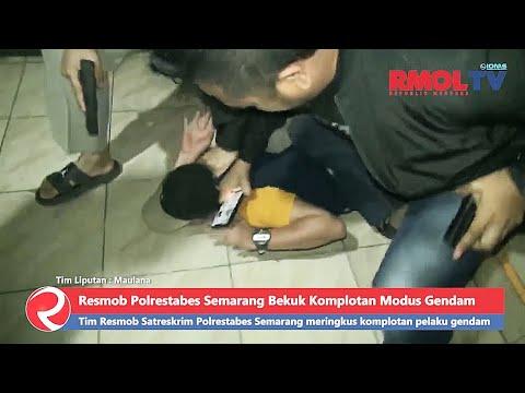 Detik detik Resmob Polrestabes Semarang Bekuk Komplotan Modus Gendam