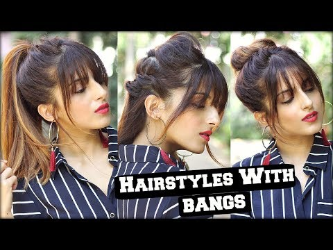 1 Min Everyday Hairstyles With Fringe Bangs 2017 For School, College, Work/ Quick Hair Tutorial Mp3