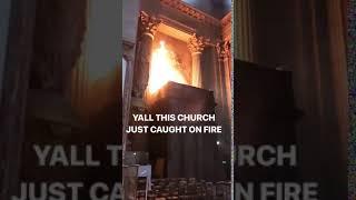Violent Incendie à L'église Saint-Sulpice à Paris