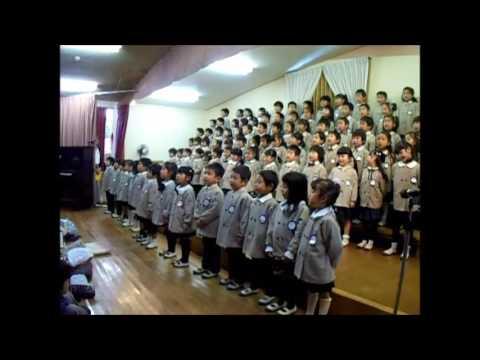 2016 12月10日 くりの木幼稚園 音楽会 動画? 年長合奏 にじ