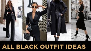 40+ ALL BLACK OUTFIT LOOKBOOK | Red Fashion Chic
