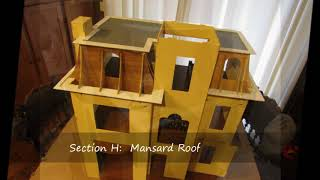 Beacon Hill Dollhouse Construction of Section H: Mansard Roof