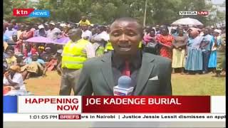 Raila, Atwoli and other leaders join thousands at the burial of football legend Joe Kadenge