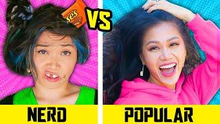 HOW TO BECOME POPULAR || Nerd VS Popular in 24 Hours Funny School Life Hacks by Spy Ninjas