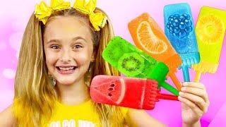 Sasha and Max makes Fruit Ice Cream and go to Grandfather on Holidays