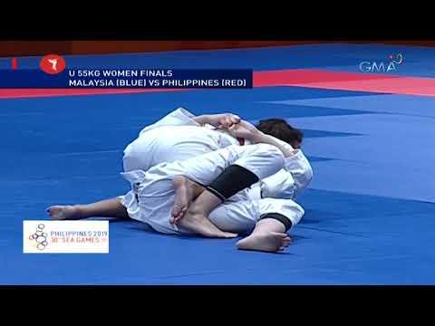 [GMA]  SEA Games 2019: Philippines vs. Malaysia in U 55kg women finals Jiu-Jitsu