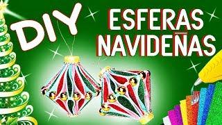 DIY ESFERAS NAVIDEÑAS | FOAMY ♥ GOMA EVA | DISEÑARTE TU ESPACIO CREATIVO