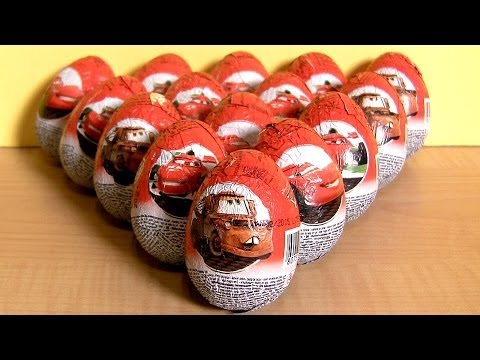 Cars 2 Silver Lightning McQueen Racer Surprise Eggs Disney Pixar Zaini Silver Racers by ToyCollector
