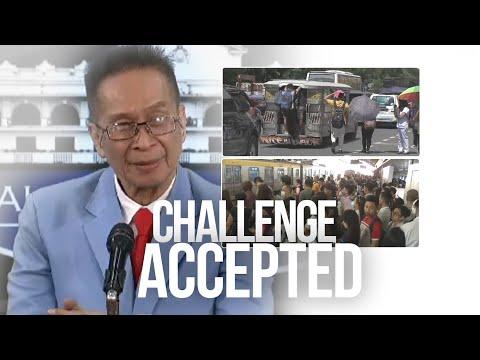 [GMA]  24 Oras: Presidential Spokesman Panelo, kumasa sa hamong mag-commute