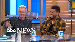 Sting and Shaggy perfectly impersonate each other