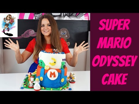 DIY SUPER MARIO ODYSSEY KUCHEN BACKEN / HOW TO MAKE A SUPER MARIO ODYSSEY CAKE / SWEETS FOR GEEKS