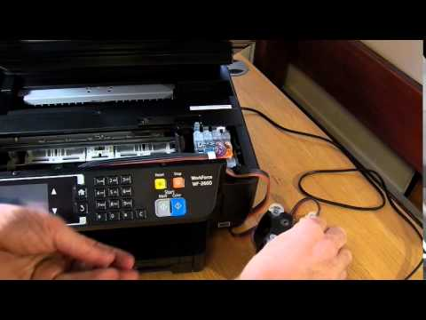 Ciss continuous ink system for Epson WF-2660 dwf