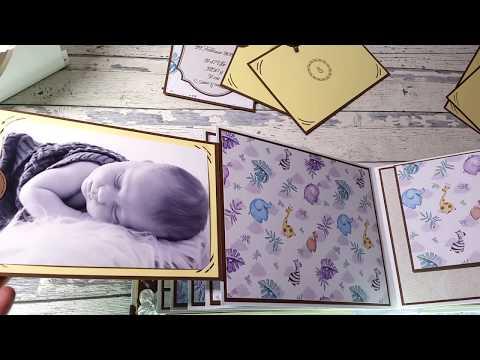 "Safari Babyalbum Scrapbook ""Created by VergiDju"" Memorie Book Presentation"