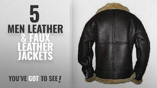 Infinity Men Leather & Faux Leather Jackets [ Winter 2018 ]: Mens Brown Flying B3 Real Shearling