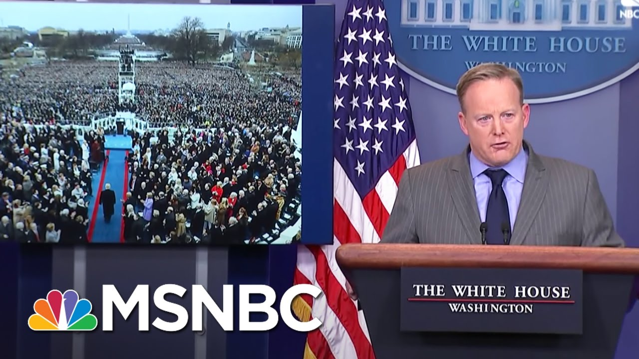 Fact Checking White House Press Secretary Sean Spicer's Inauguration Numbers | MSNBC thumbnail