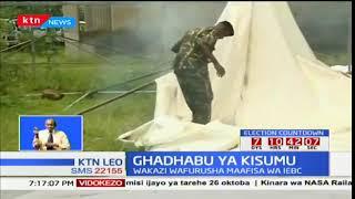 Kizazaa Kisumu baada ya wenyeji kuvuruga zoezi la maandalizi ya marudio ya uchaguzi
