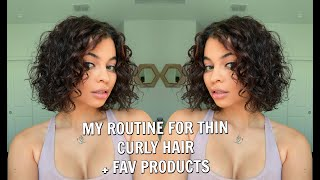 My Routine For THIN CURLY HAIR (MUST TRY THESE PRODUCTS!)