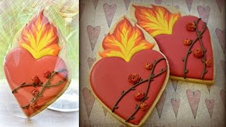 Flaming Heart Cookies