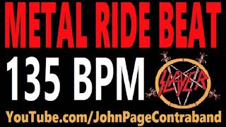 Metal Ride Beat 135 bpm Slayer Style Drums Only Track Loop