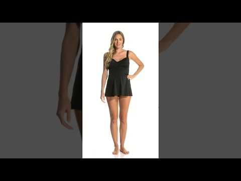Prego Maternity Swimwear Solid Twist Baby Doll Tankini | SwimOutlet.com