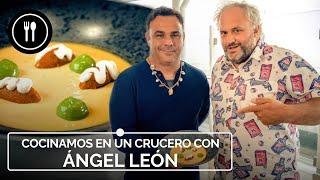 ÁNGEL LEÓN nos enseña a cocinar un ROYAL DE ERIZO en alta mar, a bordo de un CRUCERO