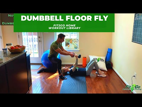 Dumbbell Floor Fly: Tone it Up!