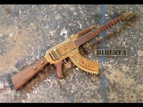 7 Phút biến guitar thành AK47 , có thể bắn ra âm thanh