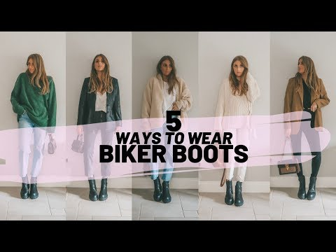 HOW TO STYLE BIKER BOOTS // Chunky Boots Styling Video // Sinead Crowe