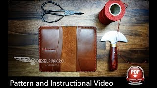 How To Make A Leather Wallet - Tutorial And Pattern Download