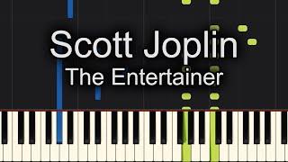 The Entertainer Scott Joplin Piano Tutorial Easy