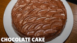 Easy Single Layer Chocolate Cake Recipe - Easy Chocolate Cake