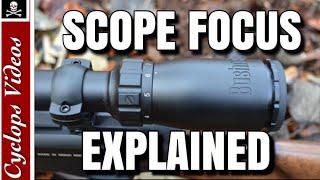 Rifle Scopes Adjustment Scope Focus
