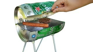 DIY Amazing Mini BBQ from Beer Keg at Home