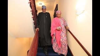 VIDEO: Buhari and Wife, Aisha meet Queen of England